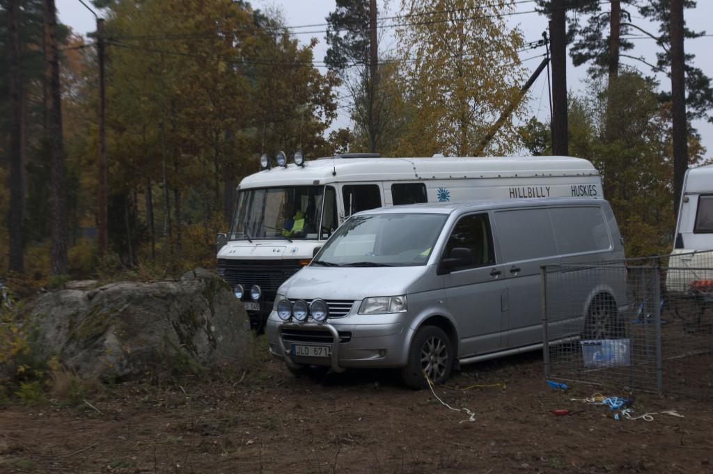 På campingen på tävlingsplatsen